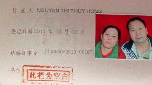 Kết hôn với người Trung Quốc tại cơ quan có thẩm quyền của Trung Quốc