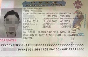 Visa dinh cu Dai Loan