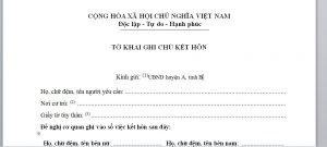 To khai ghi chu ket hon voi nguoi Nhat Ban - Anh minh hoa