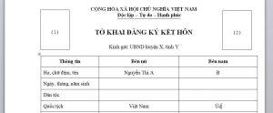 To khai cho viec dang ky ket hon voi nguoi Uc tai Viet Nam - Anh minh hoa