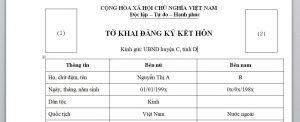 To khai dung de ket hon voi nguoi nuoc ngoai tai Viet Nam - Anh minh hoa