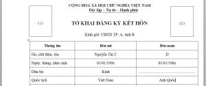 To khai dang ky ket hon voi nguoi Anh Quoc tai Viet Nam - Anh minh hoa
