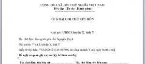 To khai ghi chu ket hon voi nguoi Trung Quoc - Anh minh hoa