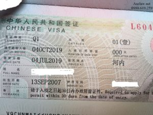 Visa Q1 tham than Trung Quoc