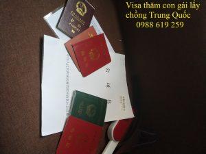 Xin visa sang tham con gai lay chong Trung Quoc - Anh minh hoa