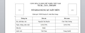 To khai dung de dang ky ket hon voi cong dan Trung Quoc tai Viet Nam - Anh minh hoa