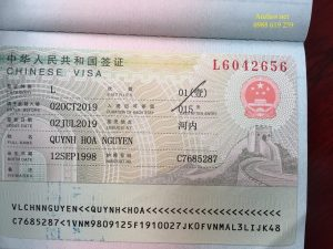 Visa thương mai 3 thang Trung Quoc