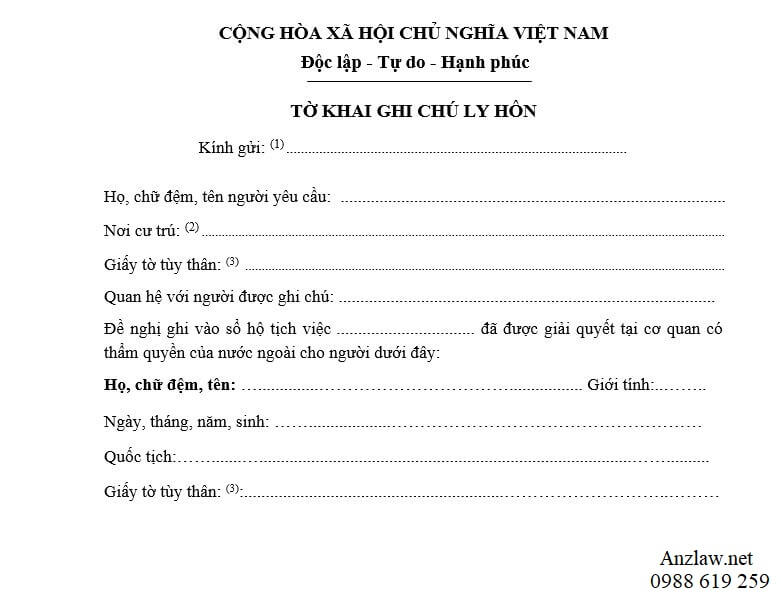 Huong dan dien to khai ghi chu ly hon - Anh minh hoa