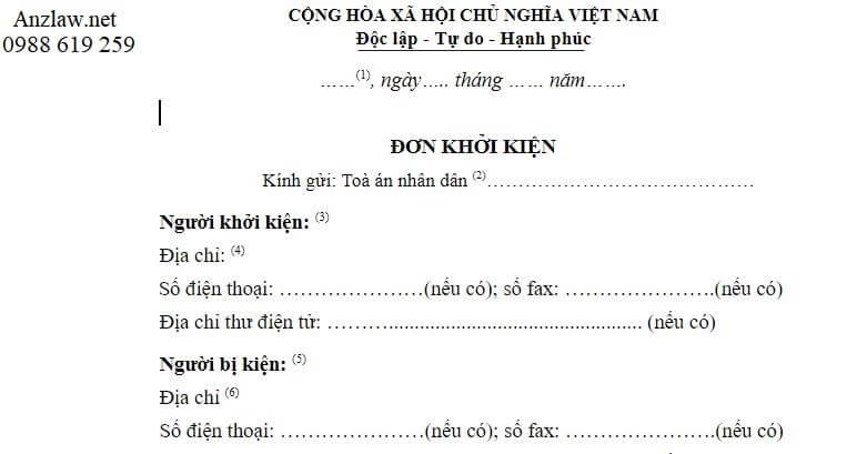 Huong dan soan don khoi kien ly hon chinh xac nhat