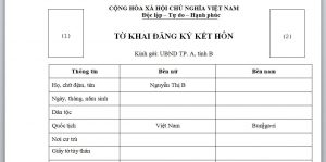To khai dang ky ket hon voi nguoi Bun-ga-ri tai Viet Nam