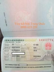 Visa sang Trung Quoc ket hon